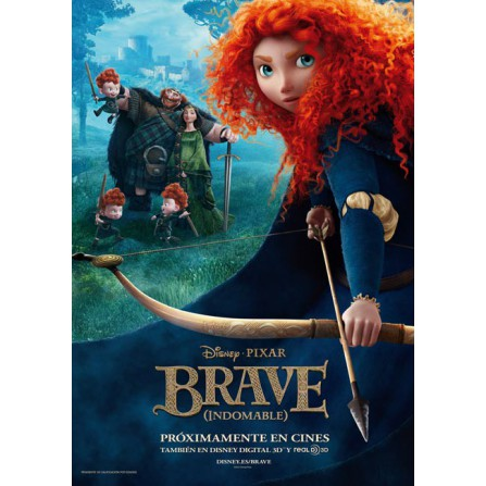 Brave 3D (Indomable) (2012) - BD