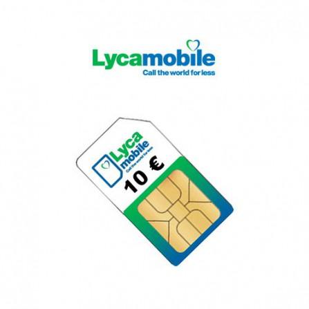 Pack Tarjeta SIM Lyca Mobile 10€ (10 Uds.)