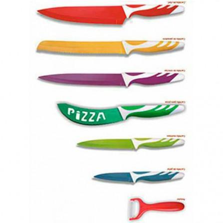Set de cuchillos diseño suizo 6+1 Thulos