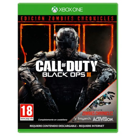 Call of Duty Black Ops 3 + Zombie Chronicles - Xbox one
