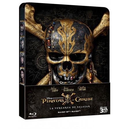 Piratas del Caribe Venganza de Salazar (BD + 3D) Steelbook - DVD