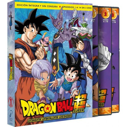 Dragon Ball Super Box 1 - La saga de la batalla de los Dioses - BD