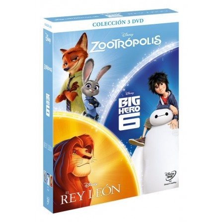 PACK CHICOS Zootropolis + Big Hero 6 + El Rey Leon - DVD
