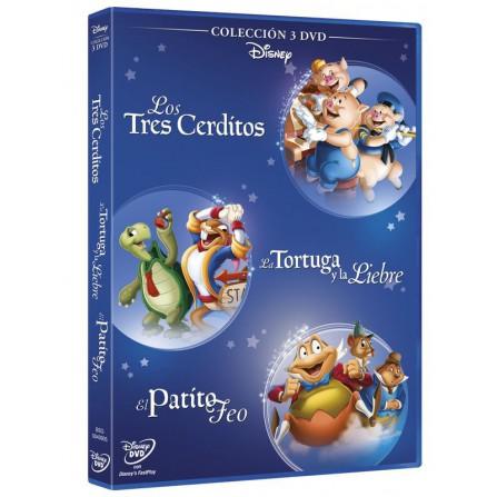 PACK FABULAS 3 cerditos + El patito feo + La liebre y la tortuga - DVD