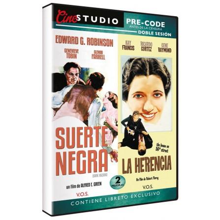 Cine Studio Doble Sesión - Suerte Negra + La Herencia - DVD