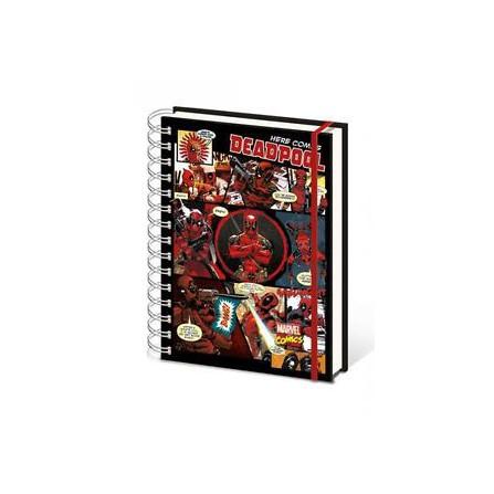 Notebook A5 Wiro Deadpool - Marvel