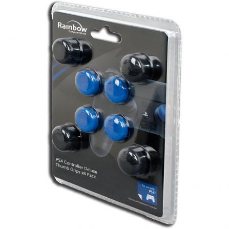 Grips (4 Azul + 4 Negros Precisión) - PS4