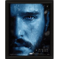 Cuadro 3D John Snow Vs Night King (Juego de Tronos)