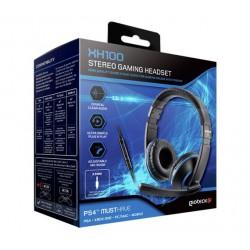 CASCO STEREO XH100 AZUL-NEGRO/PS4-X1-PC