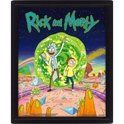 Cuadro 3D Rick & Morty Portal