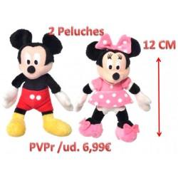 Peluche Mickey y Minnie - 2 Ud. (12cm)