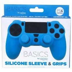 Silicona mando Azul + Grips - PS4