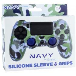 Silicona mando Navy + Grips - PS4