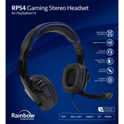 Headset gaming blue Rainbow - PS4