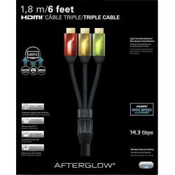 Cable HDMI Triple (Rojo-Dorado-Verde) - Retro