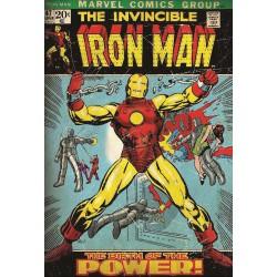 Lienzo Iron Man Retro  (30x40cm)
