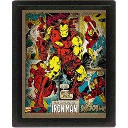 Cuadro 3D Iron Man Retro