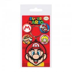 Set llavero y chapas Super Mario