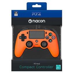 Mando Nacon Naranja (Cable) LCD - PS4