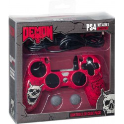 Headset Demon + Grips + Cable carga - PS4