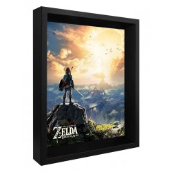 Cuadro 3D The Legend of Zelda Sunset
