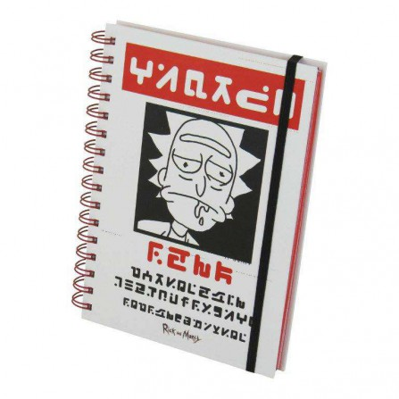 Rick & Morty Wiro Notebook Wanted