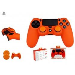 Silicona mando naranja + Grips FR-Tec - PS4