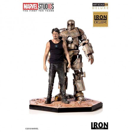 Tony Stark & Mark I Deluxe Art Scale 1:10  21cm - MCU 10 Years
