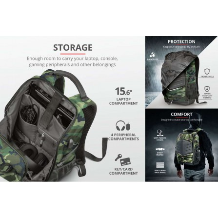 GXT1255 Outlaw Backpack Camo - PC