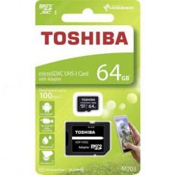 Tarjeta MicroSD Toshiba 64GB CL10 R100