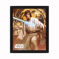 Cuadro 3D Vader vs Skywalker Star Wars