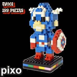 Figura Capitán América AV001 199 piezas