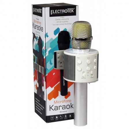 Micrófono Karaoke Wireless ET-WS10 Plata