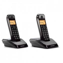 Teléfono Motorola S1202 Duo Negro