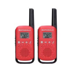 Walkie pack de 2 Uds Motorola Talkabout T42 Rojo