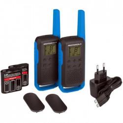 Walkie pack de 2 Uds Motorola Talkabout T62 Go Discover Azul
