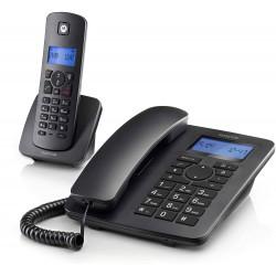 Teléfono Motorola C4201 Combo Teléfono Fijo + Teléfono Inalámbrico