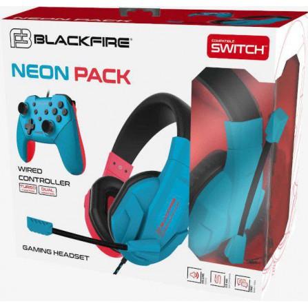 Pack Headset + Mando Blackfire Neon Pack - SWI