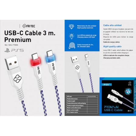 Cable USB-c 3 m. Premium - PS5