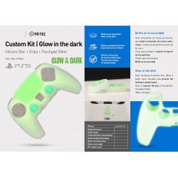 Kit Glow Dark (Silicona+Grips+Sticker) - PS5