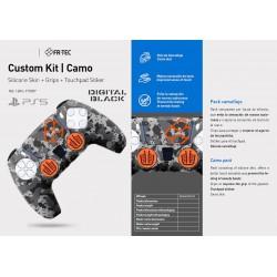 Kit Camo (Silicona+Grips+Sticker) - PS5