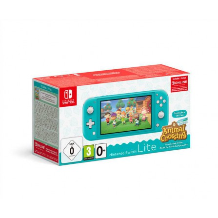 Consola SWI Lite Turquesa + AC New Horizons + 3 meses Nintendo Online