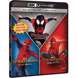 Pack spider-man (homecoming - lejos de casa - un nuevo universo) (4k uhd + blu-ray)