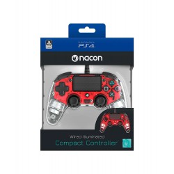 Mando Nacon Red Light (Cable) LCD - PS4